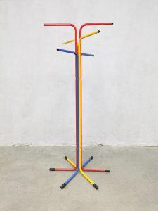 Vintage Scandinavian design primary colored coat rack stand kapstok Ikea eighties