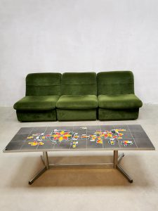 Vintage design tile table coffee table tegeltafel salontafel Belarti