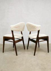 vintage design eetkamer stoel dinner chair boucle sheepskin style