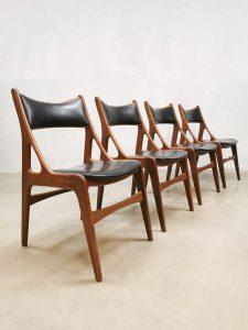 Midcentury Danish design dining chairs Deens eetkamerstoelen 'organic'
