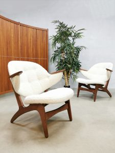 Midcentury vintage design easy chair lounge fauteuil Carl Edward Matthes