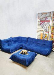 Vintage design lounge set sofa chair ottoman bank Togo Ligne Roset Michel Ducaroy