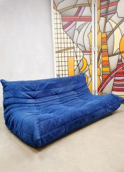 vintage design 3 seats Togo Ligne Roset lounge bankan lounge bank poef Michel Ducaroy
