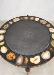 midcentury modern vintage coffee table Agate Heinz Lillenthal