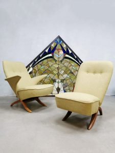 Vintage Dutch design Congo & Pinguin chair Theo Ruth Artifort