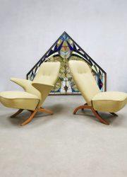 Vintage Dutch design Congo & Pinguin chair Theo Ruth Artifort fifties