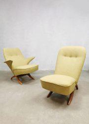 Midcentury vintage Dutch design Congo & Pinguin chair Theo Ruth Artifort