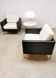 Midcentury vintage Dutch design armchairs lounge fauteuil Pierre Paulin Artifort model 442