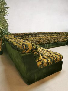 Vintage midcentury modular sofa modulaire elementen lounge bank 'Urban Jungle'