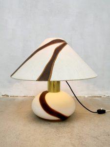 Vintage design table lamp Murano glass tafellamp 'Bi-color'