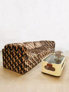 Vintage pattern modular sofa elementen lounge bank 'Geometric'