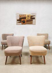 vintage midcentury design club fauteuils pink ecru