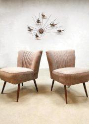 bestwelhip Vintage design cocktail chairs lounge stoelen 'soft colors'