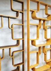 Vintage design Ludvik Volak room divider Drevopodnik Holesov
