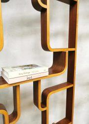 plywood Vintage design wall units Ludvik Volak room divider Drevopodnik Holesov