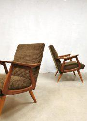 vintage retro Midcentury Dutch design armchair lounge fauteuil Webe Louis van Teeffelen