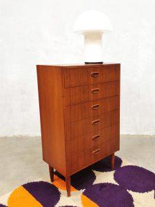 Vintage midcentury Swedish design chest of drawers teak vintage ladekast