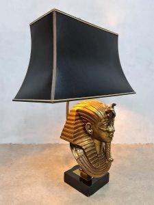 vintage tafel lamp farao table lamp hollywood regency