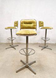 bestwelhip vintage design barstools chrome stool swivel footring barkrukken