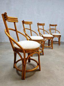 bestwelhip vintage design midcentury bamboo eetkamerstoelen bamboe Rohe Noordwolde Boucle