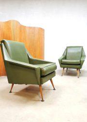 retro vintage design armchairs 1950s lounge fauteuils stoelen