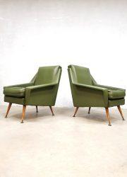 armchairs vintage midcentury design armchairs fifties lounge fauteuils stoelen
