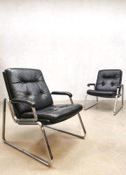 Vintage design arm chairs lounge fauteuils Gerd Lange voor Drabert
