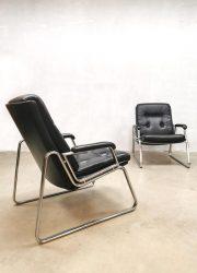 Vintage lounge design arm chairs lounge fauteuils Gerd Lange voor Drabert
