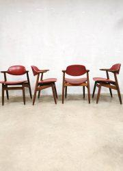 dining chairs dinner chair vintage midcentury design cowhorn hulmefa koehoorn stoelen dinner chair