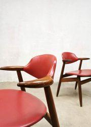 retro vintage midcentury design cowhorn dining chairs hulmefa koehoorn stoelen