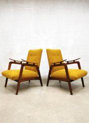 Dutch vintage midcentury design danisch style armchairs lounge fauteuils
