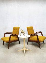 Dutch vintage design arm chairs lounge fauteuil jaren 50 60 fifties sixties