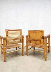 vintage tuigleren stoelen arm chairs Kaare Klint style interior Bestwelhip