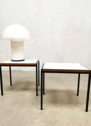 Vintage bijzettafel midcentury design minimalist side tables by Cees Braakman for Pastoe