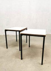 Retro mimiset design midcentury design minimalist side tables by Cees Braakman for Pastoe