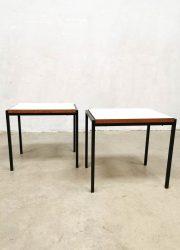 Vintage nesting table set midcentury design minimalist side tables by Cees Braakman for Pastoe