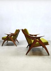 Vintage Dutch design lounge set bank sofa & arm chairs de Ster Gelderland