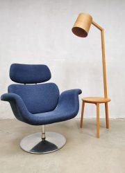 Vintage Dutch design 'Big Tulip' easy swivel chair lounge fauteuil Pierre Paulin Artifort
