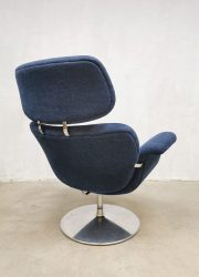Vintage Dutch design 'Big Tulip' easy swivel chair lounge fauteuil Pierre Paulin Artifort retro