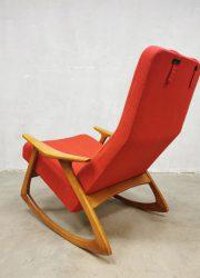 Vintage Deens design schommelstoel retro