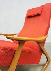 Vintage midcentury Danish design rocking chair Deense schommelstoel jaren 60