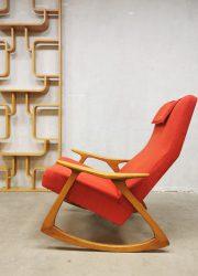 Vintage midcentury Swedish design rocking chair Zweedse schommelstoel retro