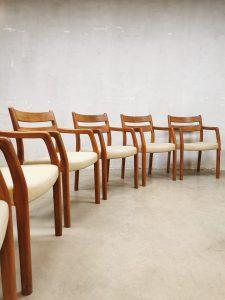 Danish vintage dining chairs eetkamerstoelen EMC møbler