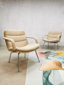 Set of two Vintage Dutch design loungechairs fauteuils Geoffrey Harcourt Artifort