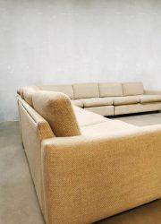 Vintage Dutch design modular sofa hoekbank Geoffrey Harcourt Artifort