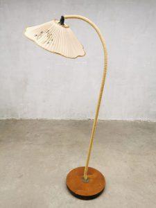 Vintage Swedish design organic cord floor arc lamp vloerlamp 'Good luck'