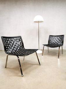 Vintage design easy net chairs fauteuils Giancarlo Vegni Fasem