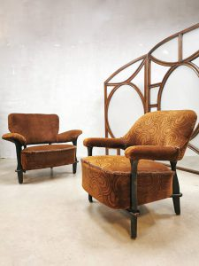 Vintage Dutch desig lounge set chairs fauteuil F109 Theo Ruth Artifort