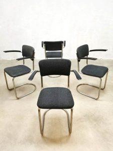 Model 208 vintage dutch design eetkamerstoelen stoel chair Gispen