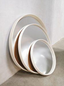 Vintage design spiegels set of 3 space age Trinity